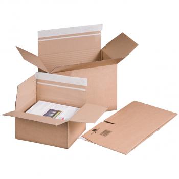 smartboxpro Fix-Aufrichtekarton mit Selbstklebeverschluss, 470 x 315 x 190 - 313 mm, Pack à 10 Stück