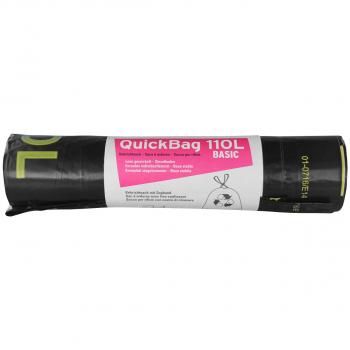 Rolle à 10 Kehrichtsäcke ohne OKS-Signet 110 Liter, schwarz, mit Zugband
