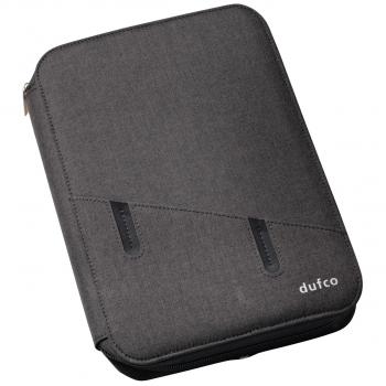 dufco Konferenzmappe mit Powerbank, anthrazit, im Format A5
