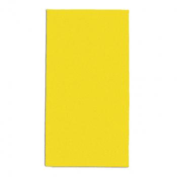 Servietten sonnengelb, 2-lagig, 33 x 33 cm, 1/8 Kopffalz, randgeprägt, Pack à 100 Stück