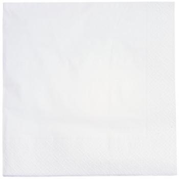 Servietten weiss, 3-lagig, 40 x 40 cm, 1/4 Falz, randgeprägt, Karton à 2'000 Stück