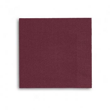 Edelweiss Servietten bordeaux, 3-lagig, 40 x 40 cm, 1/4 Falz, randgeprägt, Pack à 100 Stück