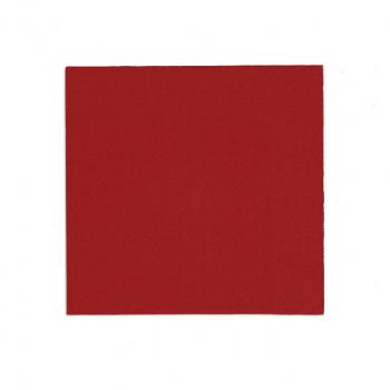 Edelweiss Servietten rot, 3-lagig, 40 x 40 cm, 1/4 Falz, randgeprägt, Pack à 100 Stück