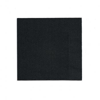 Edelweiss Servietten schwarz, 3-lagig, 40 x 40 cm, 1/4 Falz, randgeprägt, Pack à 100 Stück