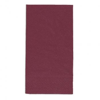 Edelweiss Servietten bordeaux, 3-lagig, 40 x 40 cm, 1/8 Kopffalz, randgeprägt, Pack à 100 Stück