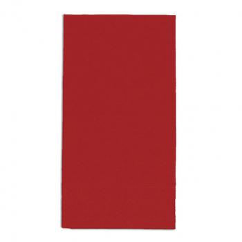 Edelweiss Servietten rot, 3-lagig, 40 x 40 cm, 1/8 Kopffalz, randgeprägt, Pack à 100 Stück
