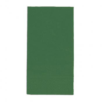 Edelweiss Servietten tannengrün, 3-lagig, 40 x 40 cm, 1/8 Kopffalz, randgeprägt, Pack à 100 Stück