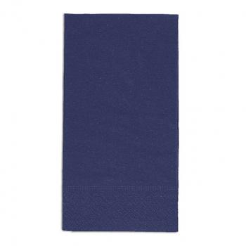 Edelweiss Servietten blau, 3-lagig, 40 x 40 cm, 1/8 Kopffalz, randgeprägt, Pack à 100 Stück