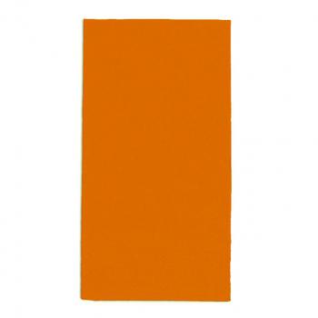 Edelweiss Servietten orange, 3-lagig, 40 x 40 cm, 1/8 Kopffalz, randgeprägt, Pack à 100 Stück