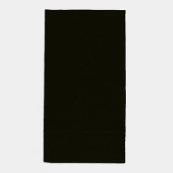 Edelweiss Servietten schwarz, 3-lagig, 40 x 40 cm, 1/8 Kopffalz, randgeprägt, Pack à 100 Stück