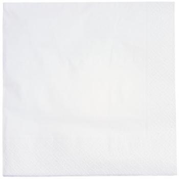 Servietten weiss, 2-lagig, 40 x 40 cm, 1/4 Falz, randgeprägt, Karton à 3'000 Stück
