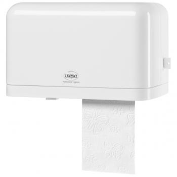 Toilettenpapierrollen-Spender Wepa weiss