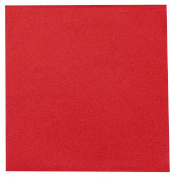 DENI meet Airlaid Servietten rot, 40 x 40 cm, 1/4 Falz, Pack à 50 Stück