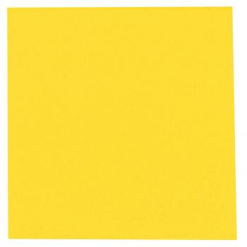 DENI meet Airlaid Servietten citron, 40 x 40 cm, 1/4 Falz, Pack à 50 Stück