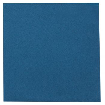 DENI meet Airlaid Servietten dunkelblau, 40 x 40 cm, 1/4 Falz, Pack à 50 Stück