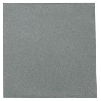 DENI meet Airlaid Servietten, grau, 40 x 40 cm, 1/4 Falz, Pack à 50 Stück