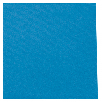 DENI meet Airlaid Servietten, azurblau, 40 x 40 cm, 1/4 Falz, Pack à 50 Stück