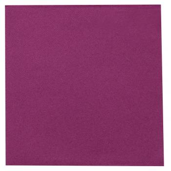 DENI meet Airlaid Servietten, violett, 40 x 40 cm, 1/4 Falz, Pack à 50 Stück
