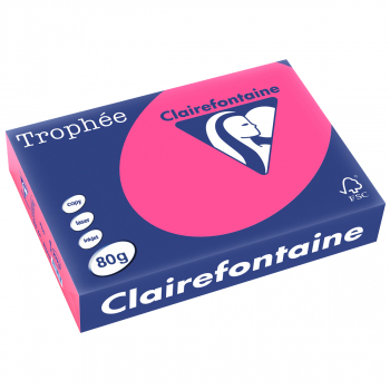 Trophée Kopierpapier neonfarbig, A4, 80 g/m2, Packung zu 500 Blatt, neonrosa