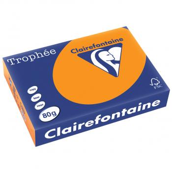 Trophée Kopierpapier neonfarbig, A4, 80 g/m2, Packung zu 500 Blatt, neonorange