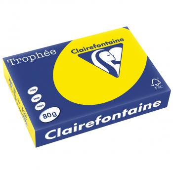 Trophée Kopierpapier neonfarbig, A4, 80 g/m2, Packung zu 500 Blatt, neongelb