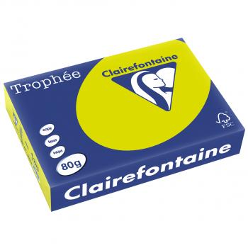 Trophée Kopierpapier neonfarbig, A4, 80 g/m2, Packung zu 500 Blatt, neongrün