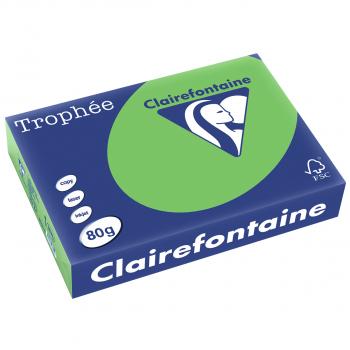 Trophée Kopierpapier farbig intensiv, A4, 80 g/m2, Packung zu 500 Blatt, limonengrün