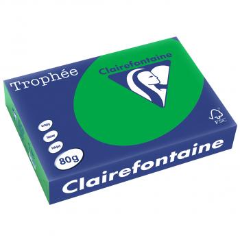Trophée Kopierpapier farbig intensiv, A4, 80 g/m2, Packung zu 500 Blatt, smaragdgrün