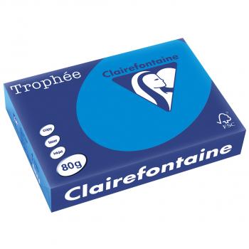 Trophée Kopierpapier farbig pastell A4, 80 g/m2, Packung zu 500 Blatt, pastellblau