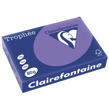 Trophée Kopierpapier farbig intensiv, A4, 80 g/m2, Packung zu 500 Blatt, violett