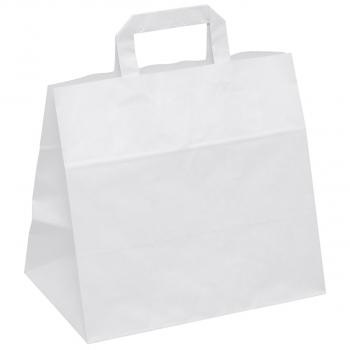 Papiertragetaschen weiss, Take-away, 32 x 22 x 27 cm, Karton à 250 Stück
