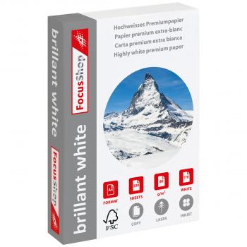 FocusShop Papier copieur/papier universel brillant white A4, 80 g/m², ramette de 500 feuilles
