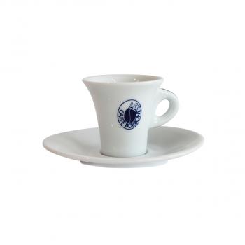 Borbone Espresso Tasse mit Unterteller, weiss , pack à 6 Stück