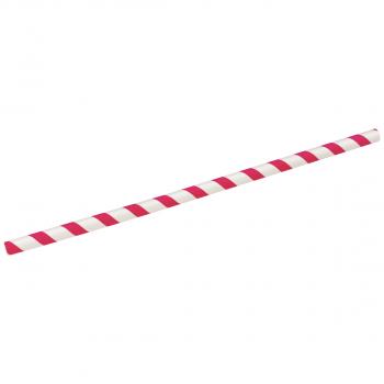Trinkhalme aus Papier rot-weiss