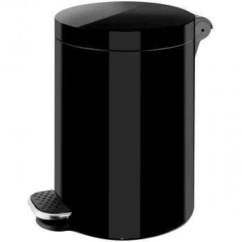 Tretabfallbehälter 3l schwarz, aus Stahl,mit Fusspedal