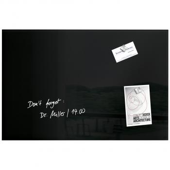 Glas Magnetboard Artverum, schwarz,  600 x 400 x 15 mm