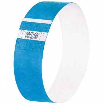 Eventbänder Super Soft, neon blau, 255 x 25 mm, Pack à 120 Stück