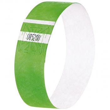 Eventbänder Super Soft, neon grün, 255 x 25 mm, Pack à 120 Stück