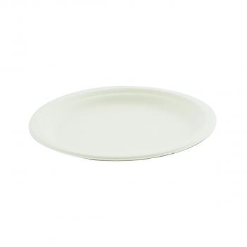 Bagasse Teller rund, Durchmesser 230 mm, Pack à 50 Stück