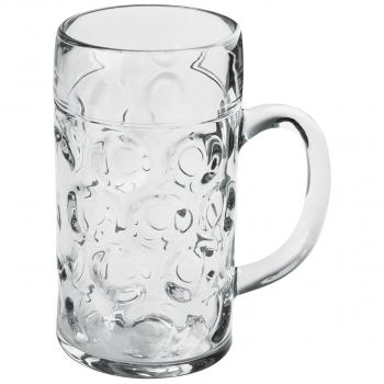 Bierbecher aus SAN geeicht 5 dl, transparent, Pack à 6 Stück