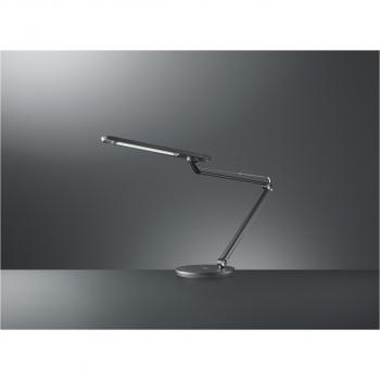 LED Smart Tischlampe mit Wireless Charger, anthrazit, 12 Watt
