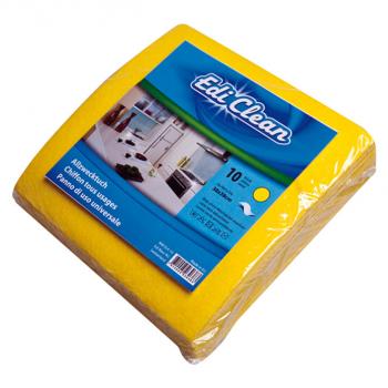 Allzwecktuch, gelb, 38 x 38 cm, 110 g/m2,  im 10er-Pack