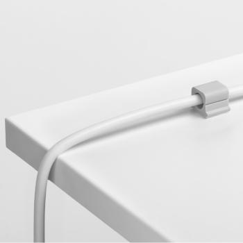 Kabel-Clips selbstklebend CAVOLINE CLIP PRO 1, für 1 Netzkabel, grau, 20 x 21 x 16 mm,