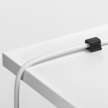 Kabel-Clips selbstklebend CAVOLINE CLIP PRO 1, für 1 Netzkabel, graphit, 20 x 21 x 16 mm,