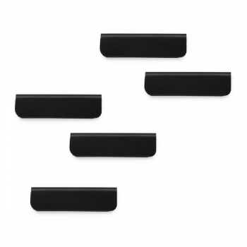 Magnetischer Zettelclip DURAFIX CLIP, schwarz, 60 x 17 mm, Beutel à 5 Stück