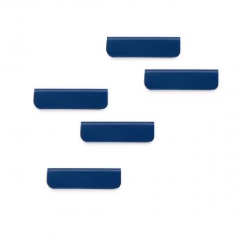 Magnetischer Zettelclip DURAFIX CLIP, dunkelblau, 60 x 17 mm, Beutel à 5 Stück