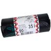 Rolle à 20 Kehrichtsäcke ohne OKS-Signet 35 Liter, schwarz