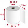 Thermorollen 44.5 mm x 70 m, Pack à 5 Stück