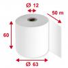 Thermorollen 60 mm x 50 m, Pack à 5 Stück