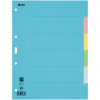 Biella Kartonregister Blanko 6-teilig, blau